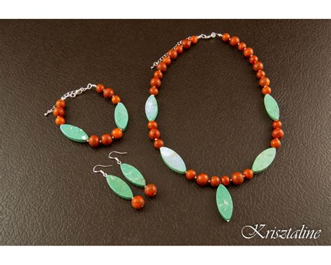 coral and turquoise necklace krisztaline