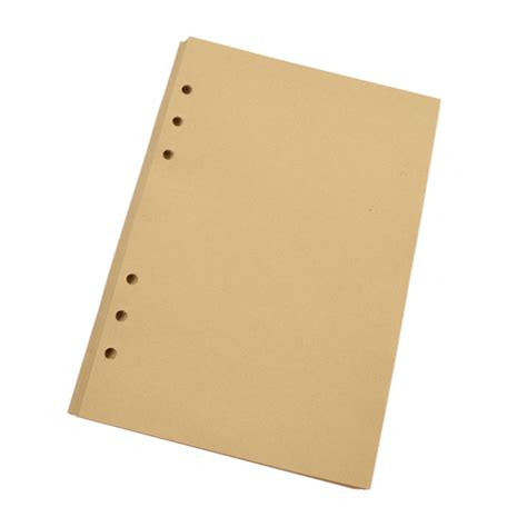 Craft Paper Notebook - 40 sheets a5 a6 lined craft paper leaf binder