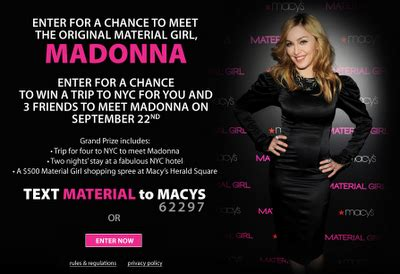 Are Madonna A Contest by Ultimatemadonna Madonna Quot Material Quot Contest Meet