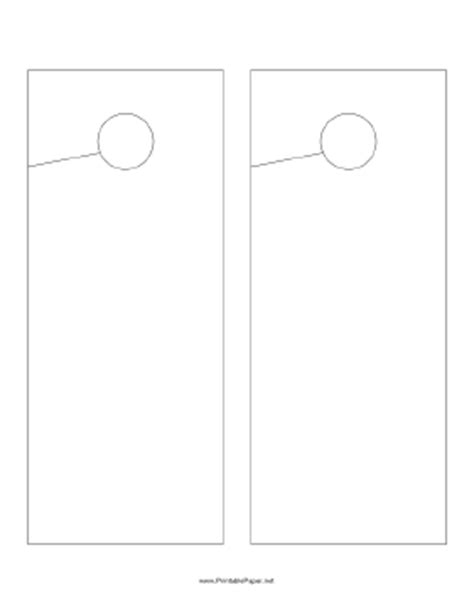 Small Door Hanger Template Printable Small Doorhanger