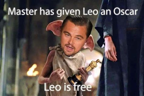 leo meme oscar 17 of the best leonardo dicaprio won an oscar memes