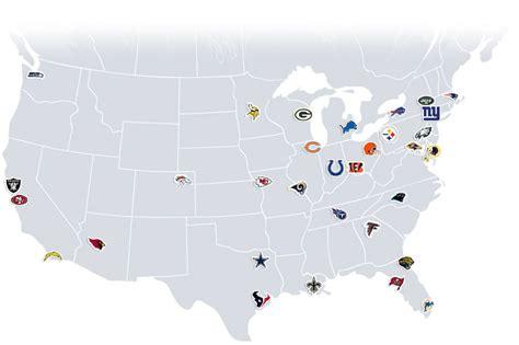 map us football teams nfl teams map zawinski webpage design consultant