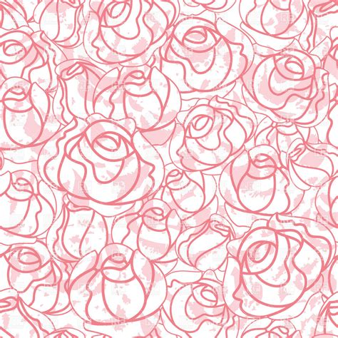 pattern clip art free download seamless roses bud outline pattern royalty free vector