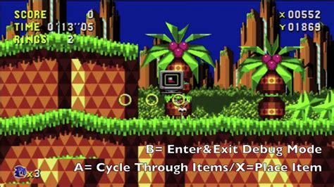 banished game debug mode sonic cd debug mode easter egg youtube