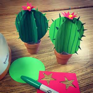 Cactus Papercraft - paper cactus projects for