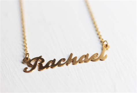 rachael name necklace rachael name jewelry name necklace
