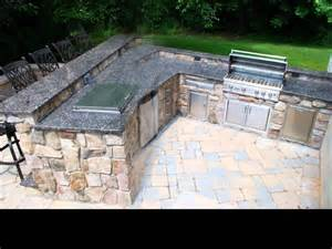 Build A Kitchen Island Out Of Cabinets outdoor kitchen barbeque project featuring natural thin
