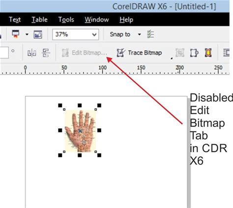 Corel Draw X4 Edit Bitmap Greyed Out | how to enable edit bitmap tab on property bar coreldraw