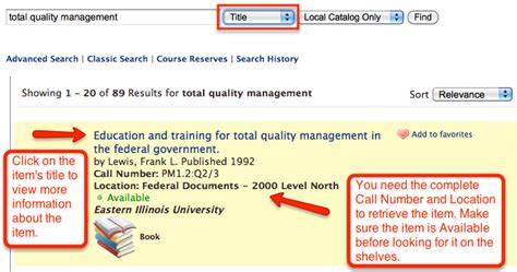 user search terms needed books tec 5133 total quality management