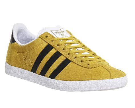 mens adidas gazelle og yellow black trainers shoes ebay