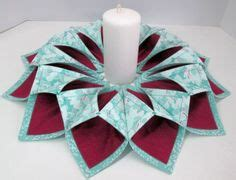 Tempat Lilin Tl 1 2inch fold and stitch wreath complete i didn t a pattern i used 6 1 2 inch squares then fused a