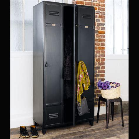 kleiderschrank schwarz kleiderschrank aus metall b 90 cm schwarz edison