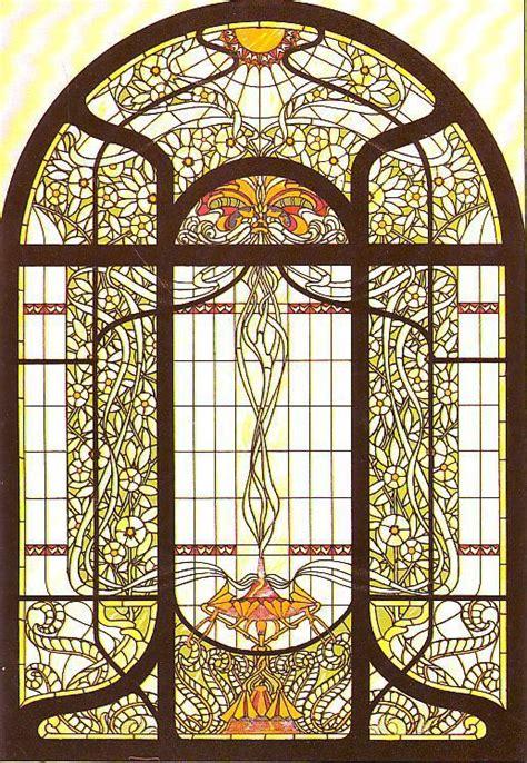 Moderne Glasmalerei Vorlagen jugendstil formost