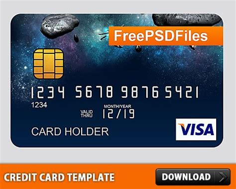 free free psd credit card template at downloadpsd cc