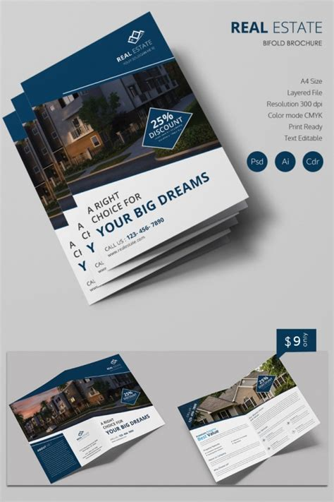 real estate brochure templates psd free brochure design templates pdf free 16 real estate brochures free psd eps word pdf