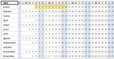 Calcular Calendario Gratis Calendario 2016 En Excel Excel Total