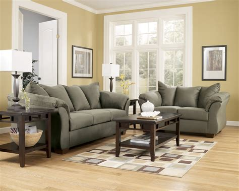 ashley furniture couch darcy sage sofa signature design by ashley furniture