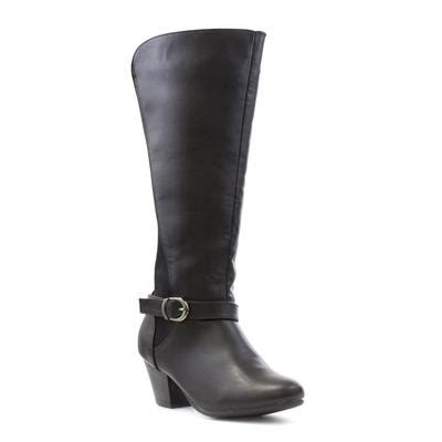 wide calf comfort boots comfort plus womens black wide fit calf boot 18858 shoe zone