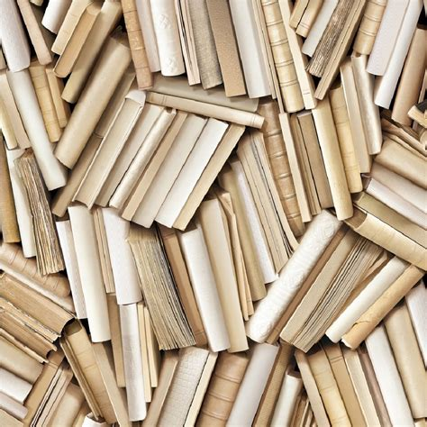 Urban Home Decor muriva virtual reality clutter books cream book wallpaper
