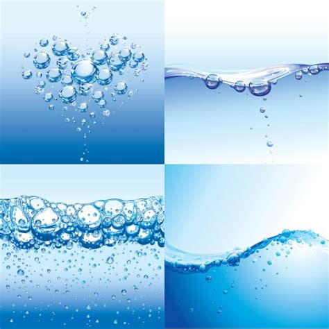 water drops with water vector background vector