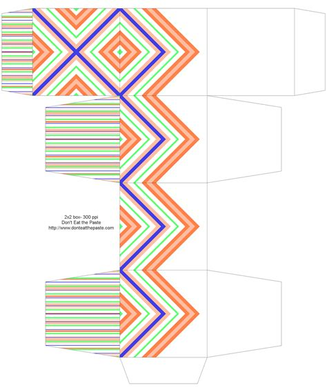 Don T Eat The Paste Chevron Boxes And A Chevron Chain 2x2 Label Template