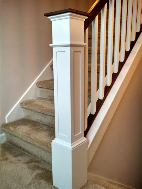 55 recessed flush panel box newel post primed by - Newal Post