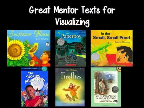 picture books to teach visualization 25 best ideas about visualizing anchor chart on