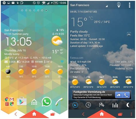weather widgets for android 12 best weather apps and widgets for android androidpit
