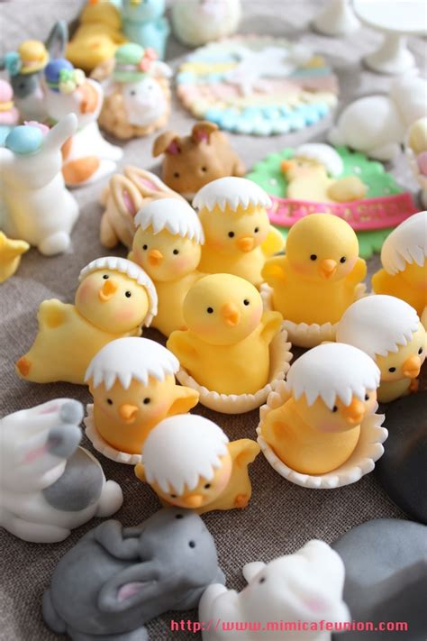 easter theme fondant cupcake toppers by mimicafe union http www mimicafeunion com easter