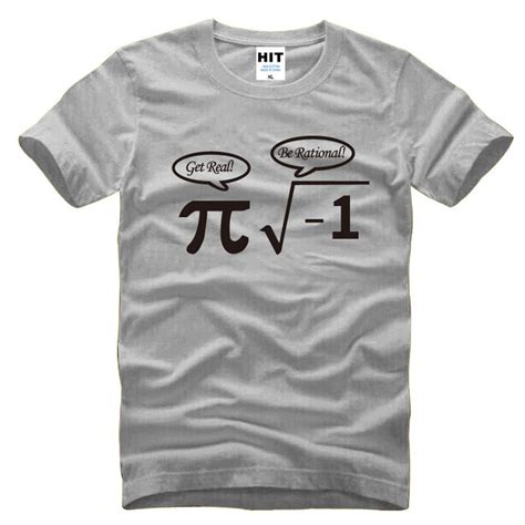 Nerdy Shirt be rational get real nerdy pi math mens