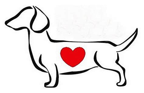 idea for dachshund tattoo maybe minus the heart or
