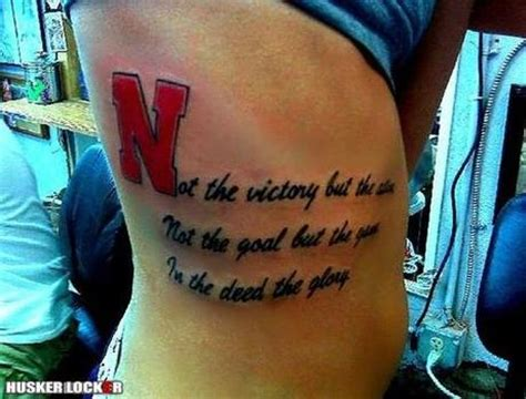 nebraska tattoo nebraska fan profile think big ink paperblog