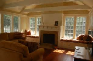 Fireplace Seating by Custom Window Seat Cushions