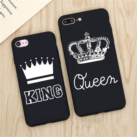 king queen phone case  iphone    fashion lover matte ultra thin soft full cover