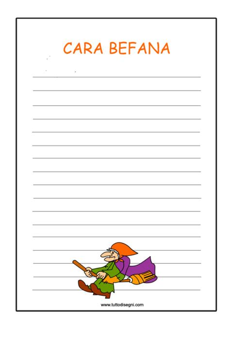 lettere per la befana befana tuttodisegni