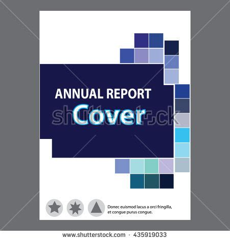 annual report cover page design sles blue annual report title page sle stock vector