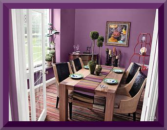 casual dining room purple wall paint colors room wall with purple interior designs