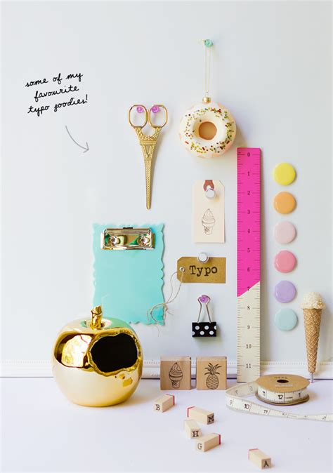 Pretty Desk Accessories Typo Desk Make 187 Eat Drink Chic