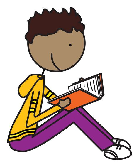 read clipart clip student reading quietly cliparts