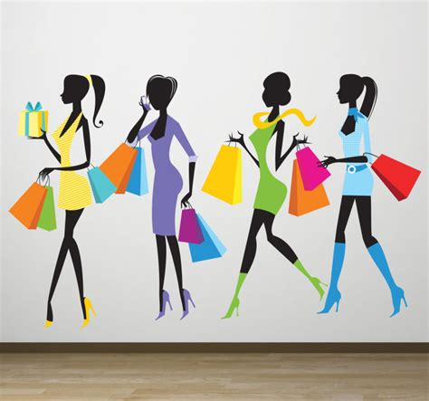 wall stickers shopping shopping wall sticker tenstickers