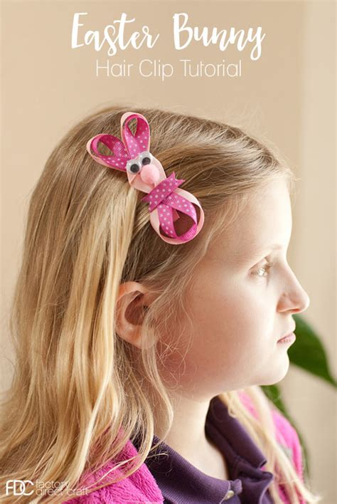 Sweet Bunny Hairclip how to make an easter bunny hair clip tutorial factory