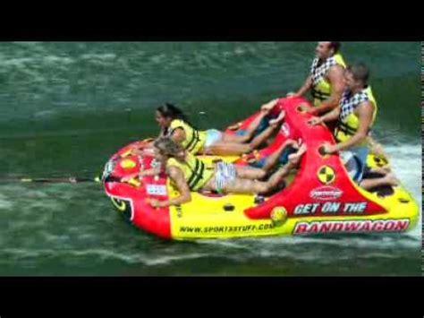 cool boat tubes bandwagon 2 2 towable boat tube by sportsstuff youtube