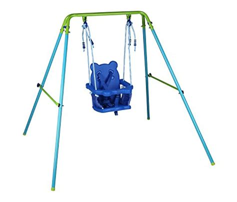 outdoor baby swing blue folding swing outdoor indoor swing toddler swing with