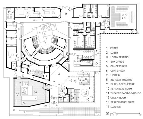 theater floor plan writers theatre