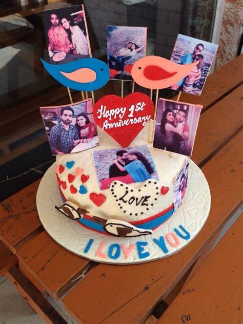 st anniversary cake surprise  husband