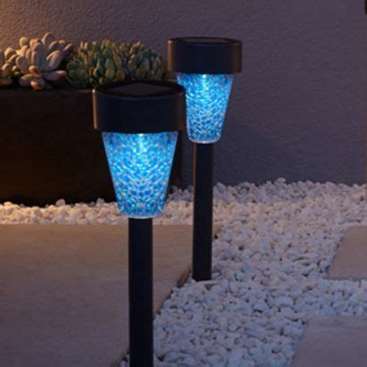 Blue Solar Lights Outdoor 22 Best Images About Garden On On Back Plant