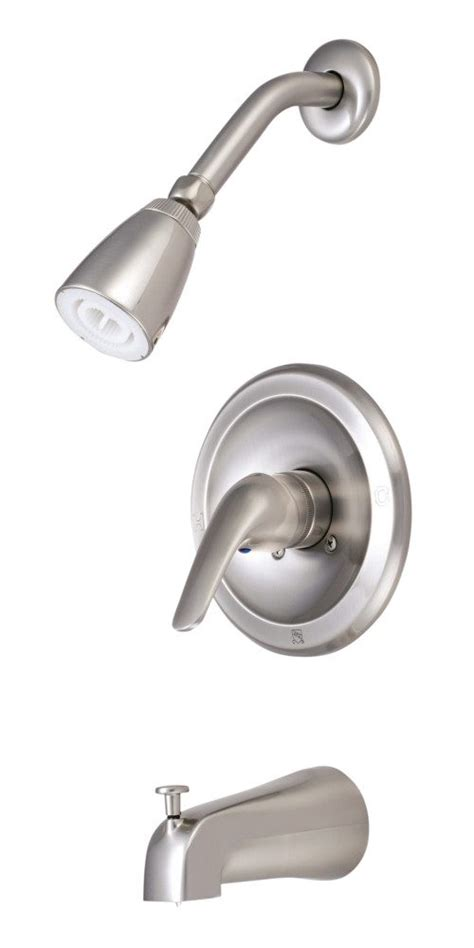 kingston satin nickel three handle tub and shower kingston brass kb538l tub and shower faucet with single