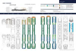 msc divina floor plan msc divina cruisetour