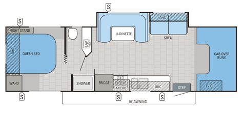 Class C Floor Plans by Jayco Class C Motorhome Floor Plans Jayco Class C
