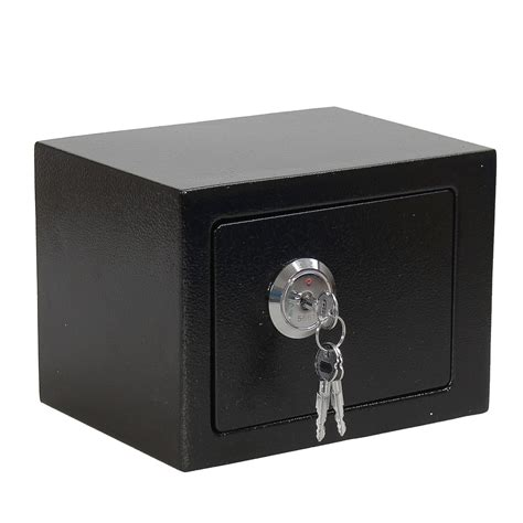 iron steel black key operated safe box money strong